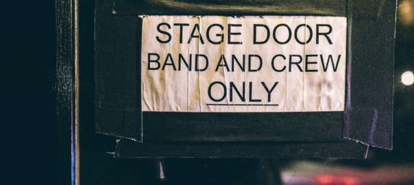Backstage at a concert