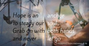 anchor soul both hands let go